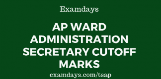 AP Ward Administration Secretary Cutoff Marks