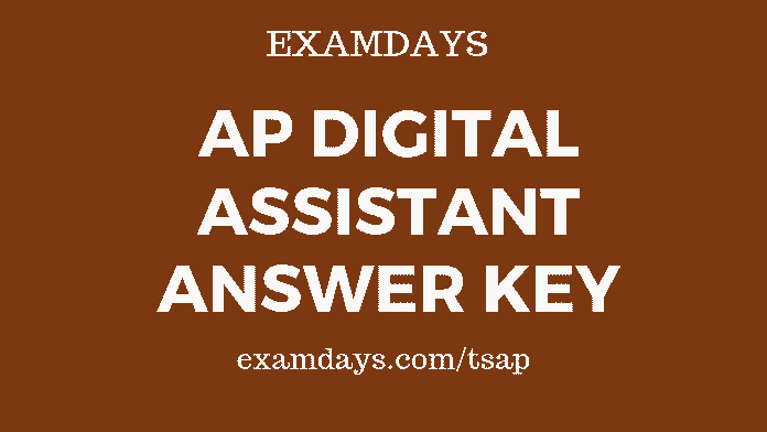 ap digital assistant answer key