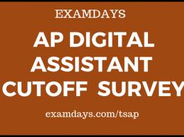 ap digital assistant cutoff survey