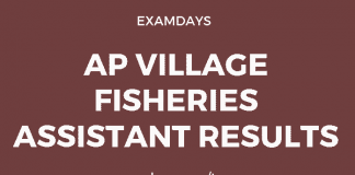 ap village fisheries assistant results
