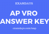 ap vro answer key