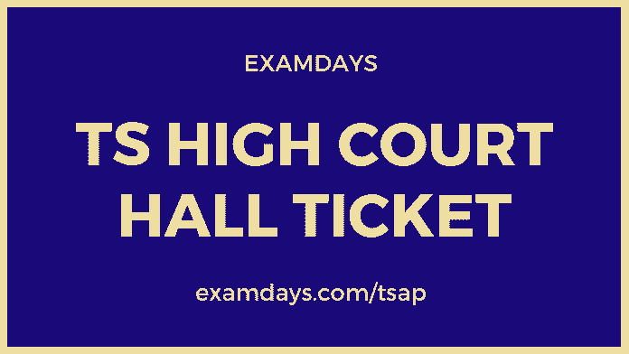 ts high court hall ticket