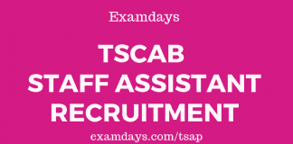 tscab staff assistant notification
