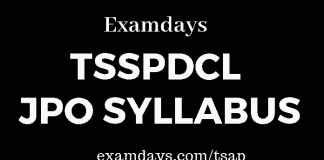 tsspdcl jpo syllabus