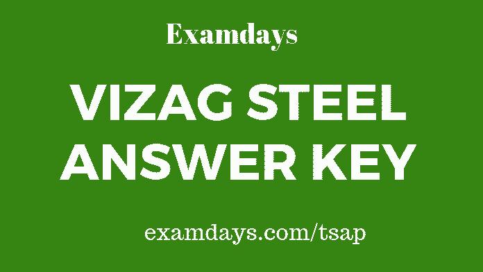 vizag steel answer key