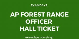 ap forest range officer hall ticket
