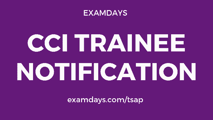 cci trainee notification