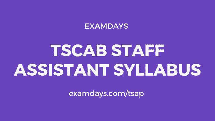 tscab staff assistant syllabus