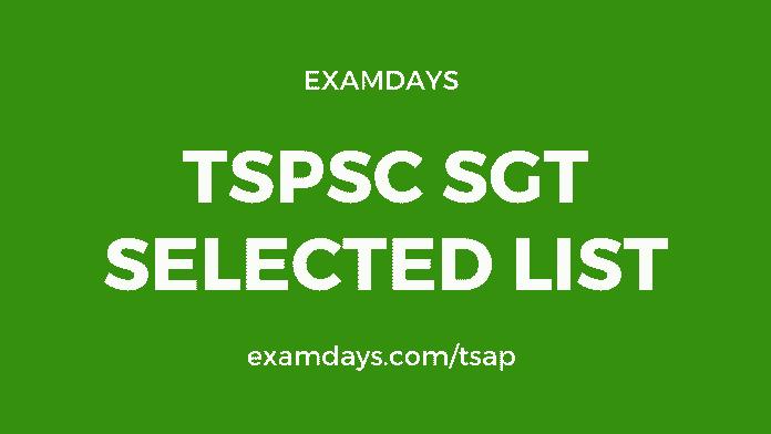 tspsc sgt selected list