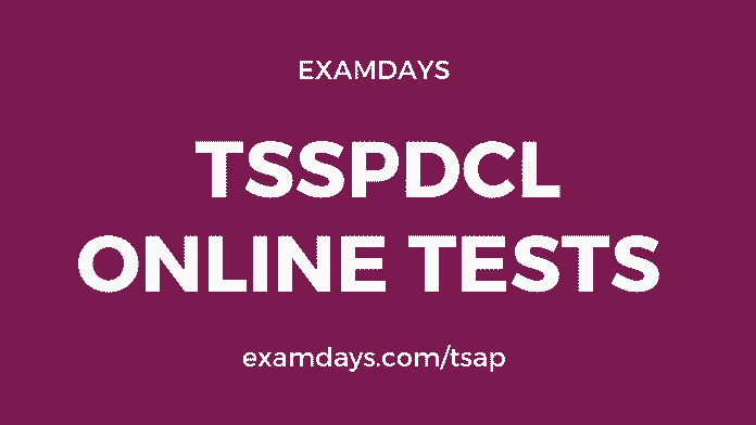 tsspdcl online tests