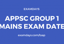 appsc group 1 exam date