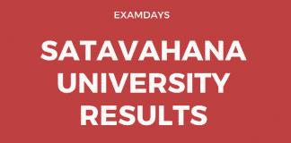 satavahana university degree results