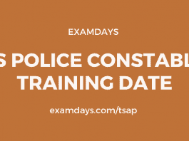 ts police constable training date