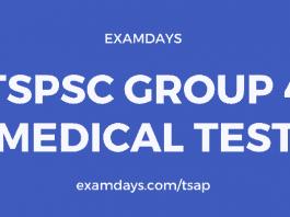 tspsc group 4 medical test