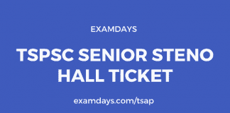 tspsc senior steno hall ticket