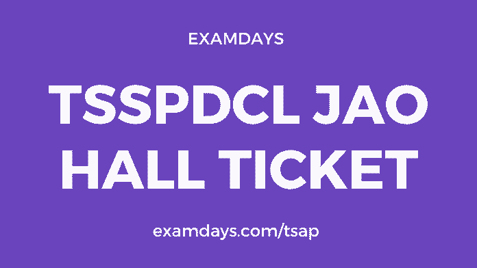 tsspdcl jao hall ticket