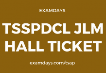 tsspdcl jlm hall ticket