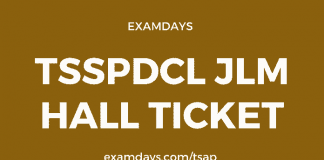 tsspdcl jlm hall ticket