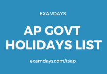 ap govt holidays list 2020