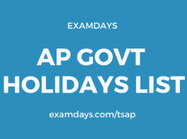 ap govt holidays list 2020