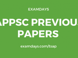 appsc previous papers pdf