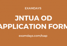 jntua od application form