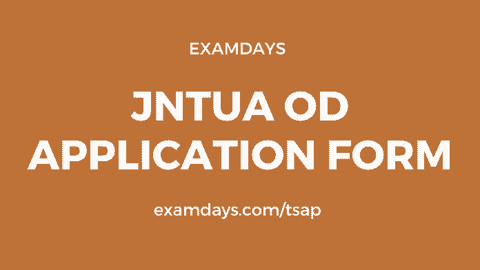 jntua od application form