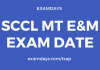 sccl mt exam date