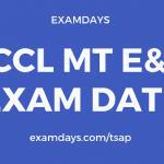 sccl mt exam date