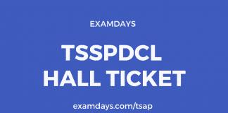 tsspdcl hall ticket