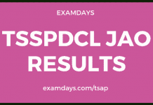 tsspdcl jao results