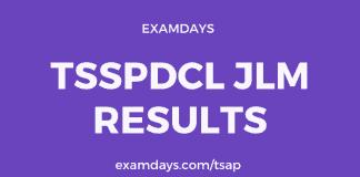 tsspdcl jlm results