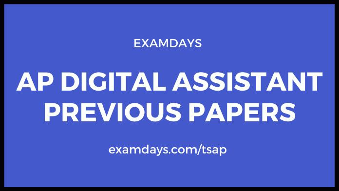 ap digital assistant previous papers