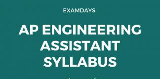 ap engineering assistant syllabus