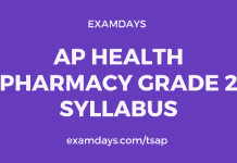 ap health pharmacist grade 2 syllabus