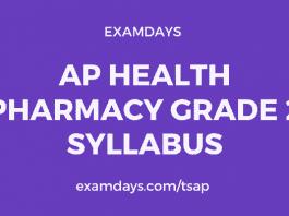 ap health pharmacist grade 2 syllabus