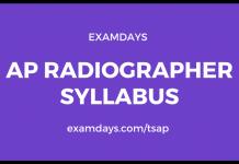 ap radiographer syllabus