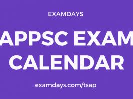 appsc exam calendar