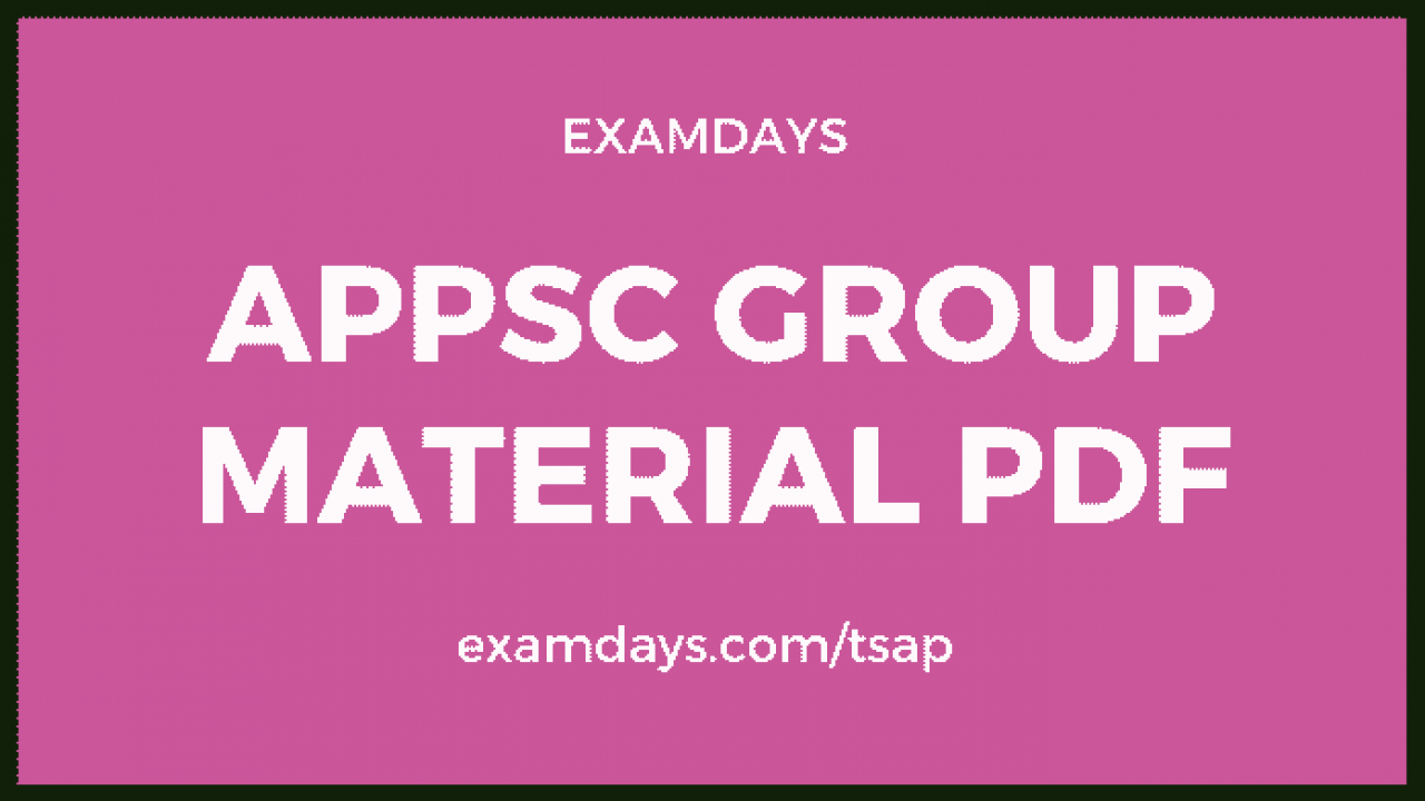 appsc group 2 study material in english pdf free download