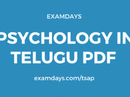 psychology in telugu books