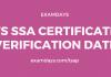 ts ssa certificate verification date