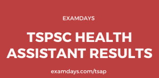 tspsc health assistant results
