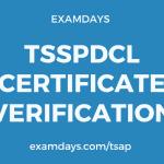 tsspdcl certificate verification