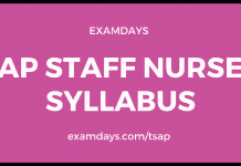 ap staff nurse syllabus