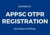appsc otpr registration