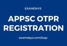 appsc otpr registration