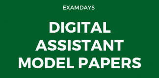 digital assistant model papers