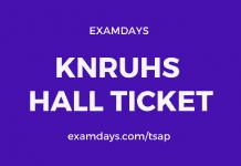 knruhs hall ticket