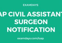 ap civil assistant surgeon notification