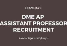 dme ap assistant professor jobs